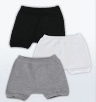 SmartKnitKIDS Seamless Undies for Boys - Single pack Boxer Briefs: ONE PAIR in WHITE